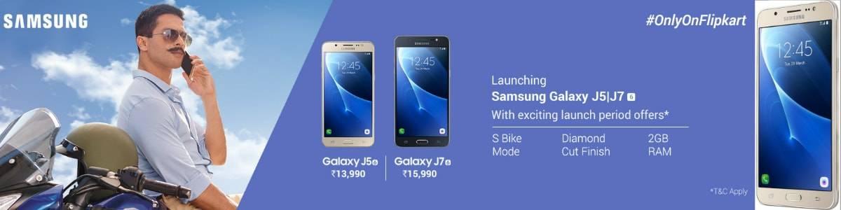 Samsung Galaxy J7 & J5 Launch Offer At Flipkart