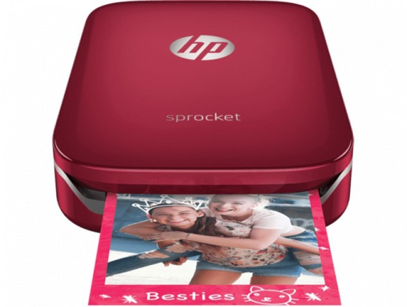 HP Sprocket Z3Z93A Photo Printer(Red)
